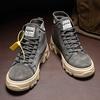 Men's High Top Boots Plain Soft-Toe Tooling Martin Boot Kerja Lelaki Men's Shoes