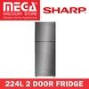 SHARP SJ-RX30E-SL 224L 2 DOOR FRIDGE / LOCAL WARRANTY