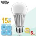 【太星電工】LED燈泡E27/15W/暖白光(6入) A615L*6.