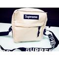 Supreme SHOULDER BAG單肩包包  斜跨小跨包防水(卡其色)