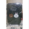 Line Friends 熊大兔兔行李箱20吋登機箱(星空版)