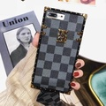 NEW Luxury Square Phone Case for OPPO R11S Plus Phone Case Vintage Lattice Leather Soft Back Cover for OPPO R11S Plus Coque with Lanyard