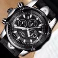 LIGE 9862 2018 LIGE Mens แบรนด์นาฬิกาหรูหรา GOLD นาฬิกาควอตซ์หนังลำลองผู้ชายทหารนาฬิกาข้อมือกีฬากันน้ำ 9862