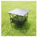 黑金鋼蛋捲桌.鋁合金蛋捲桌.加贈收納網籃