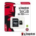 Kingston 金士頓 16G 80MB/s microSDHC UHS-I U1 記憶卡 SDCS/16GB