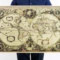 懷舊復古經典牛皮紙海報壁貼咖啡館裝飾畫仿舊掛畫●古地圖系列-航海圖