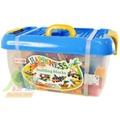 【Playful Toys 頑玩具】方形桶裝大顆粒積木310片 (台灣製造 積木 樂高相容 優質積木 益智 趣味 兒童玩具 大顆粒)