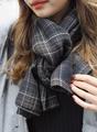 浪漫美氛格紋圍巾