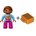 公主樂糕殿 LEGO 樂高 DUPLO 得寶 10590 女乘客 女生 媽媽 + 手提箱 手提包