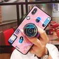 Blue Ray 3D Camera Case for VIVO Y71 Cases Soft Silicone Stand Holder TPU Cover Phone Case for VIVO Y71 Case