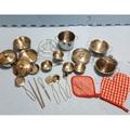 (最後一組現貨)迷你版不鏽鋼鍋具組25件 家家酒 辦家家 煮菜鍋 兒童玩具