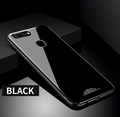 Soft Silicone Edge Protective Phone Case for OPPO R9s Tempered Glass+Hard PC Back Case For oppo r9s Case Slim Mirror