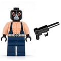 LEGO 樂高 超級英雄人偶  蝙蝠侠   貝恩 bane 含機槍 7787