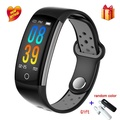 Q6 สมาร์ทสร้อยข้อมือบลูทูธผู้ชาย Smartwatch Heart Rate ความดันโลหิต Monitor นาฬิกากีฬาสายรัดข้อมือฟิตเนสสำหรับ Android IOS