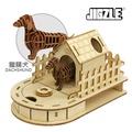 [現貨] JIGZLE 木拼圖 - 迷你收納木狗屋 + 紙臘腸犬 MXJE0006-N1