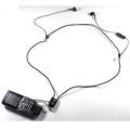 頸掛入耳式 高音質耳機麥克風 適用SonyEricsson K750 W800..手機  果凍 重低音耳麥 調音及通話開關 高抗噪電容麥克風 黑色