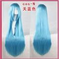 萬用假髮80cm 直髮天藍色 藍色COSPLAY 假髮 吉茵珂絲 索娜