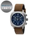 [BRISTON] Clubmaster Chrono 簡約時尚方形腕錶 深藍 皮錶帶16140-S-C-15-LVBR