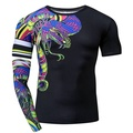 ZRCE Funny Tshirt Men 3D Snake Print Compression Shirt Cosplay Custom Workout Streetwear Plus Size Male Fitness Brand Clothing - intl