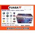+成功網$ YUASA 湯淺電池 汽車電瓶 60044 SMF(12V100AH) 完全密閉 免保養汽車電池~同 60002 / 60011 / 60038