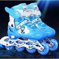直排輪-兒童溜冰鞋全套裝可調直排輪滑鞋成人男女四輪閃光旱冰鞋3-6-10歲TWN17 韓風館