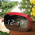 LED FM Radio Digital Alarm Clock with Sleep Timer Snooze Fuction Compact Digital Modern Design Table Clock