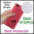 1x Oppo R15  R15 Pro Soft Back Carbon Fiber Design Screen Protector