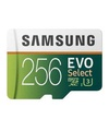 4K UHD Samsung 256GB 100MB/s U3 MicroSDXC EVO Select Memory Card with Adapter