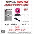 BESTKARA MUST BUY KARAOKE SYSTEM PACKAGE X-65 + POPSICAL + NK-5000