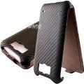 HTC Titan 泰坦機(X310E)  動感卡夢紋 下掀式 手機皮套