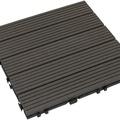 【貝力地板】太陽神DIY塑木止滑地板-3P101深灰直條(9片/箱)