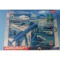 § § 磊磊小舖§ §1610A飛機場系列 飛機場玩具場景模型套件 禮盒裝 新款 卡通飛機造型 飛機 工程車 直升機