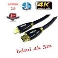 สาย HDMI Cable V2.0 Gold High Speed HDTV UltraHD HD 2160p 4K 3D 5M