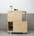 【初木】雙層貓砂櫃-貓廁所加貓跳台