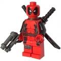 LEGO 樂高 超級英雄人偶 死侍 deadpool 配双刀和槍 6866