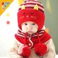 韓版冬款貓耳朵毛絨保暖帽圍巾套組 [CH-572]