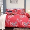 【R.Q.POLO】雨露花香 精梳棉-雙人加大床包兩用被四件組(6X6.2尺)
