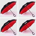 汽車反向傘 C型免持手柄 雙層傘 男士商務傘 雙層高爾夫傘 太陽傘 遮雨遮陽傘 雨傘 賓士/奧迪/保時捷/保時捷