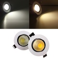 6W Non-dimmable COB LED Recessed Ceiling Light Fixture Down Light Kit