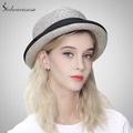 sedancasesa Hat woman summer straw hat sun hat holiday sun protect leisure  bowler cap with curl f6e56f976ec4