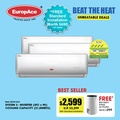 FREE INSTALLATION* EuropAce System 3 AirCon with Air Pure Filter-2/4 tick -6 years comp warrantty