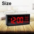 ღGB 具有溫度壁時間的LED大型數字日曆時鐘顯示器用於Acurite