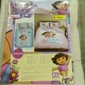 Dora卡通雙人床包組~送遊戲組