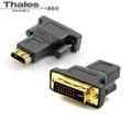 【泰利斯】HDMI 19F/DVI 29M (HDMI 19母轉DVI 29公)轉接頭