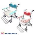 【免運】富士康摺疊馬桶椅 FZK4542 便器椅 洗澡椅 附輪可收合 有輪洗澡馬桶椅 可折疊 鋁合金馬桶椅