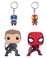 ▶$1 Shop Coupon◀  Funko POP Marvel: Civil War Hawkeye Spiderman, Iron Man & Captain America Keychain