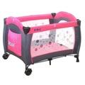 EMC 嬰幼兒安全遊戲床(幸福紅) + 雙層架+尿布台