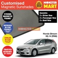 Honda Stream 2006-2014 (RN6) Customised Car Accessories Window Magnetic Sunshades 6 Pieces