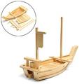 ❤❤❤大木製壽司船服務板托盤生魚片服務托盤