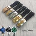 錶帶屋 20mm 圓弧頭PU色線膠錶帶膠帶含安全扣組合代用勞力士黑水鬼綠水鬼 Rolex 16610 daytona